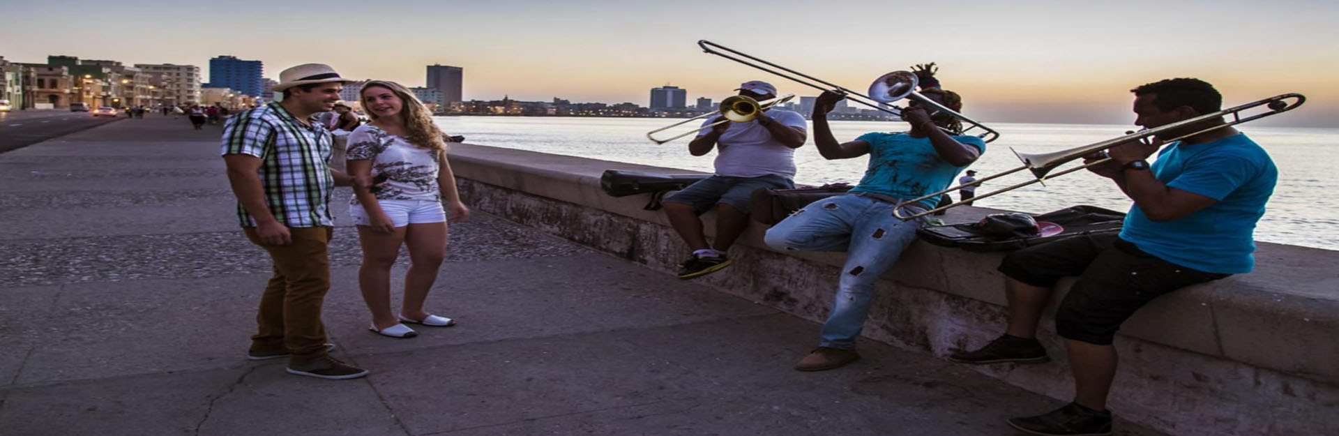 Traditional Cuban music on the Malecón of Havana, Cuba Travel